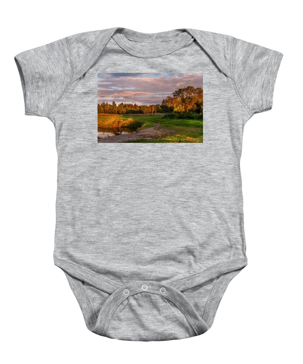 Landscape Baby Onesie featuring the photograph Holy Source 3. Karelia by Jenny Rainbow
