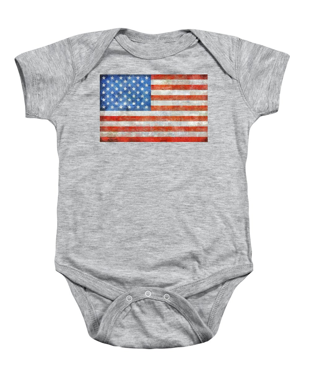 Flag Baby Onesie featuring the painting Homeland by Michelle Calkins