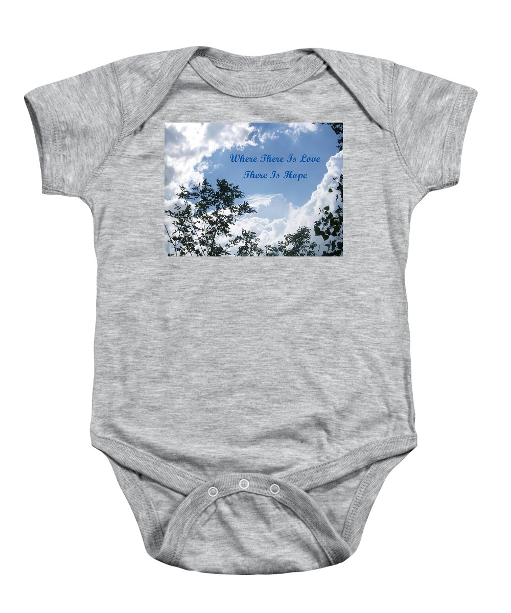 Cloud Baby Onesie featuring the photograph Hope by Aimee L Maher ALM GALLERY