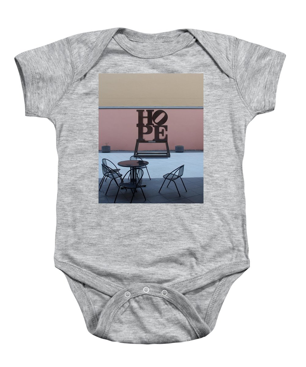 Hope Baby Onesie featuring the photograph Hope And Chairs by Rob Hans