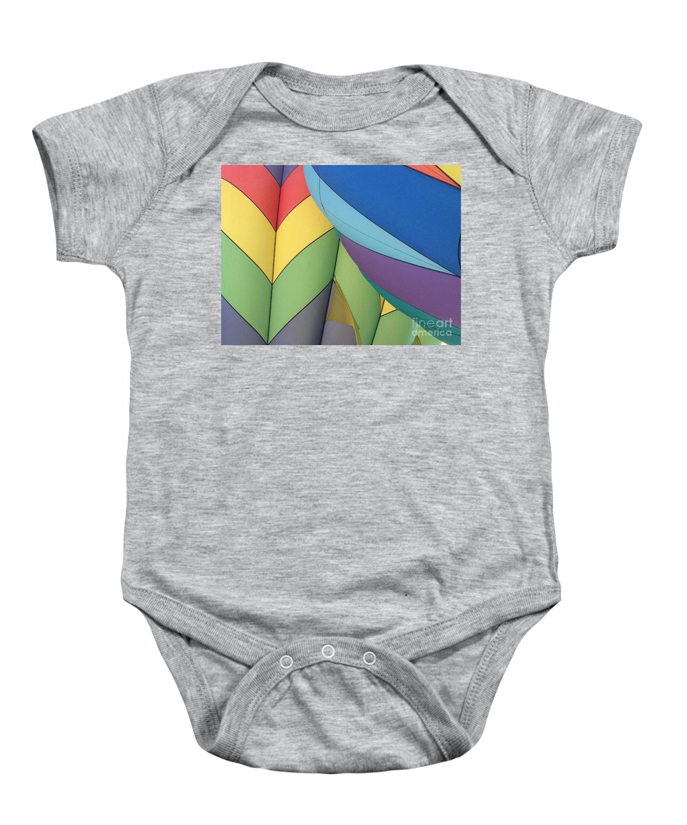 Hot Air Balloon Baby Onesie featuring the photograph Hot Air Balloons 3 by Jacklyn Duryea Fraizer