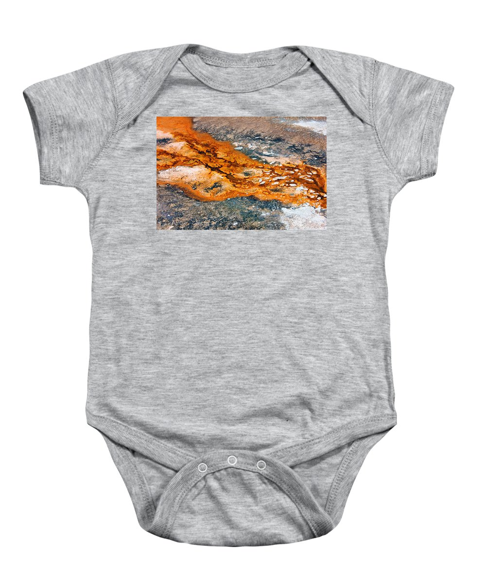 Minerals Baby Onesie featuring the photograph Hot Springs Mineral Flow by Josh Bryant
