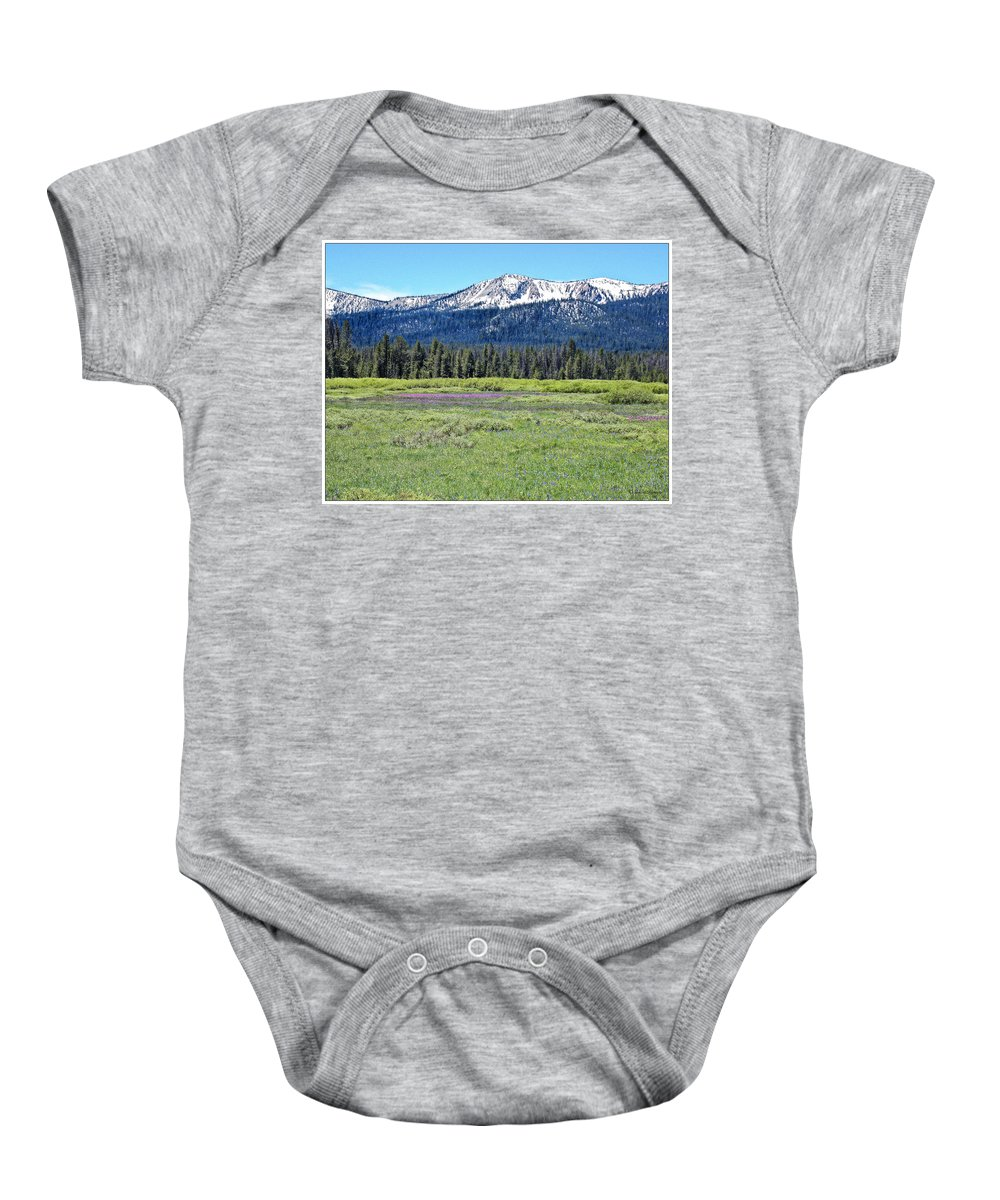 Mountains Baby Onesie featuring the photograph I Break For Wild Flowers by Susan Kinney