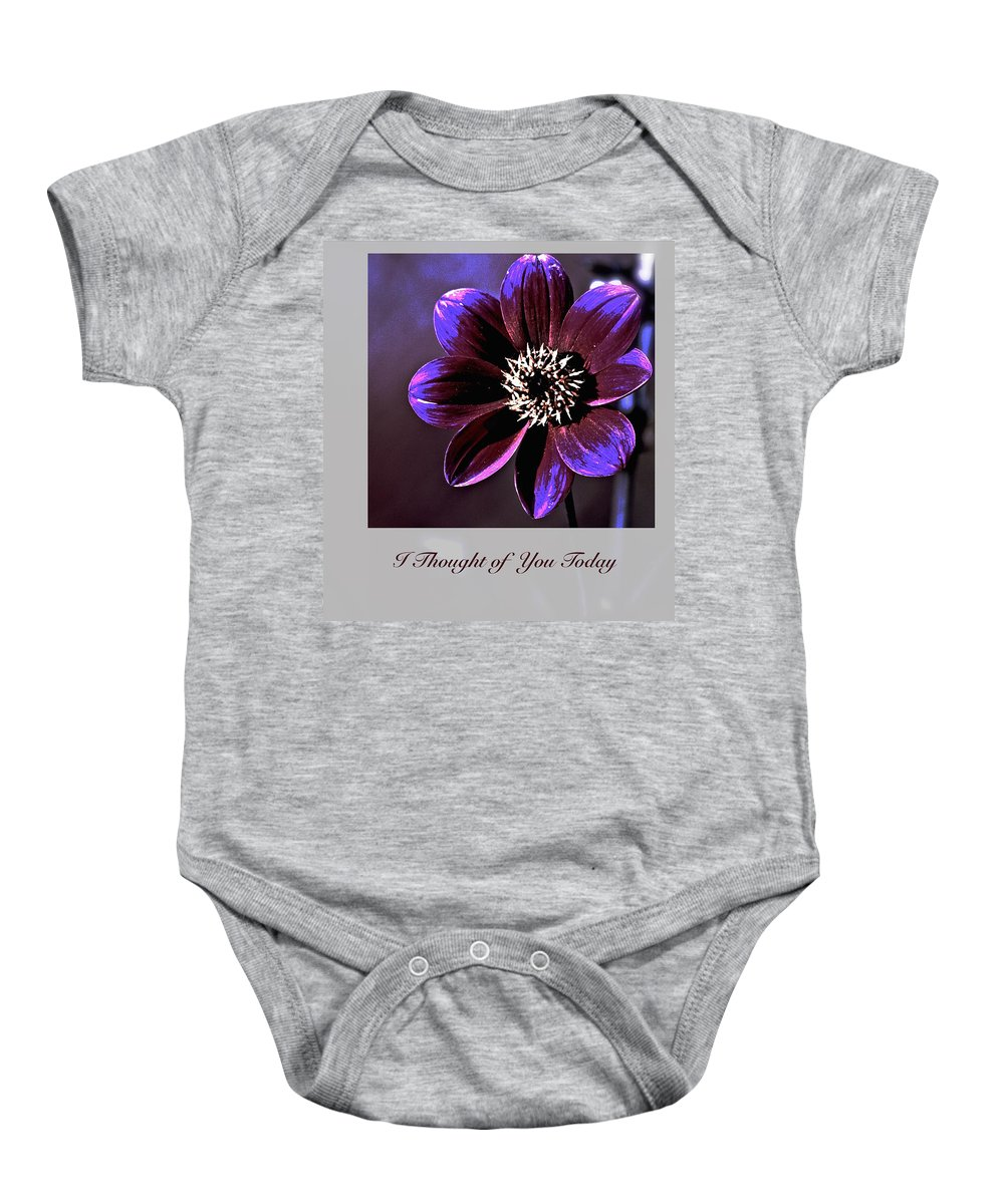 #motivation Baby Onesie featuring the photograph I Thought Of You Today by Debbie Nobile