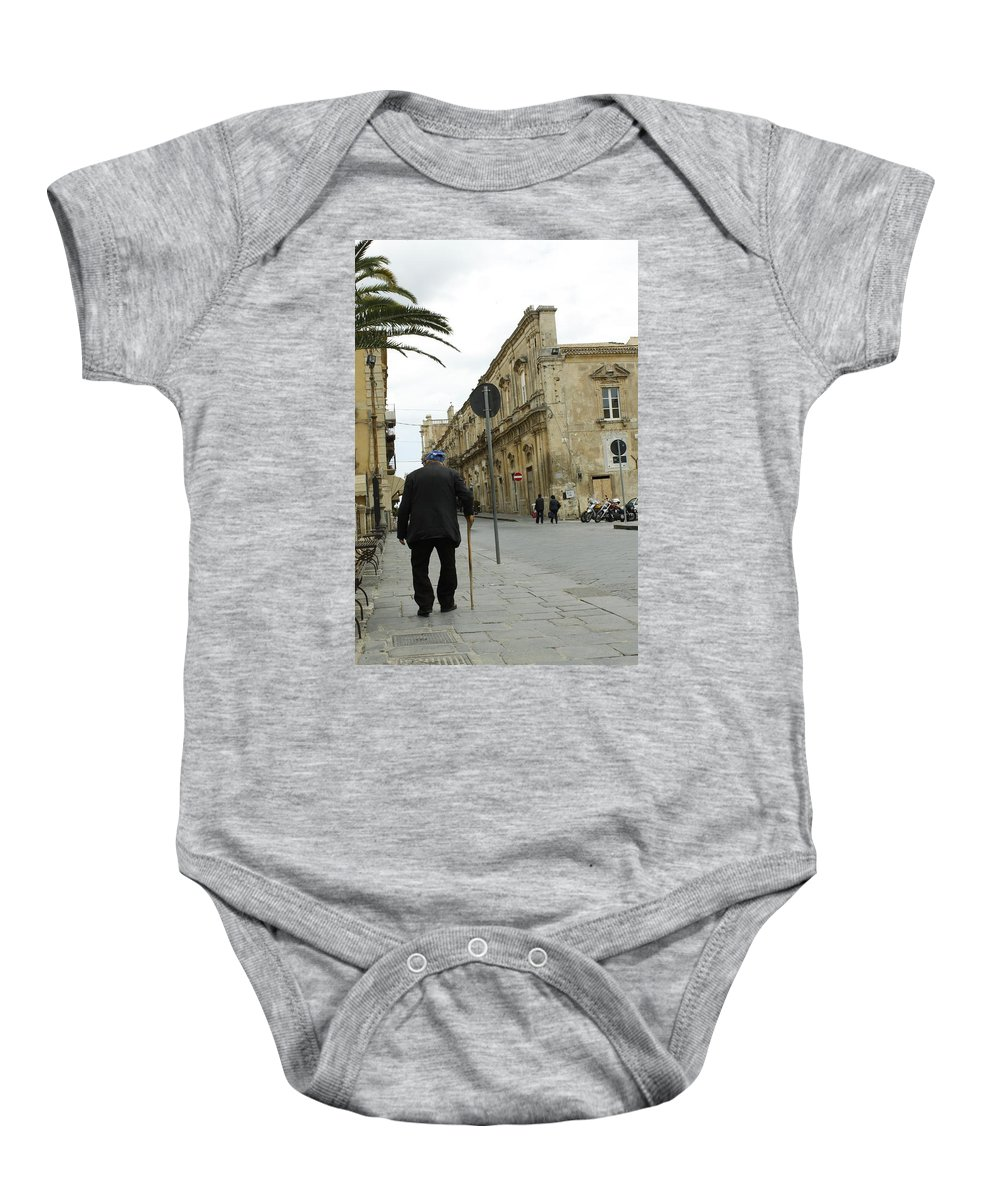 Noto Baby Onesie featuring the photograph I'm In No Rush by Donato Iannuzzi