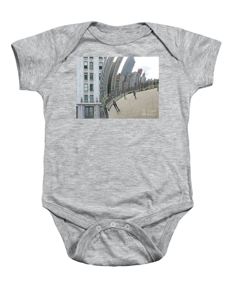 Chicago Baby Onesie featuring the photograph Imaging Chicago by Ann Horn