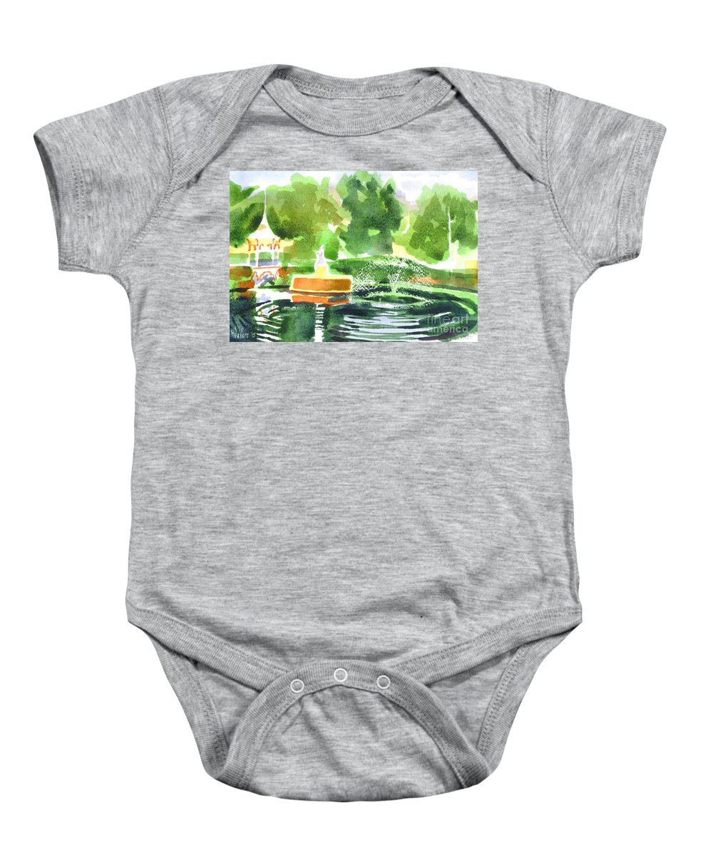 Impressions Ii Baby Onesie featuring the painting Impressions II by Kip DeVore