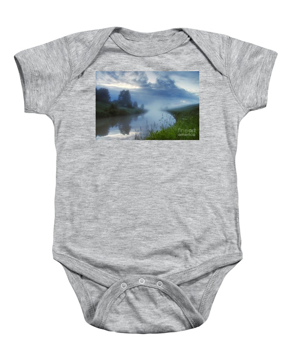 Art Baby Onesie featuring the photograph In The Morning At 02.57 by Veikko Suikkanen