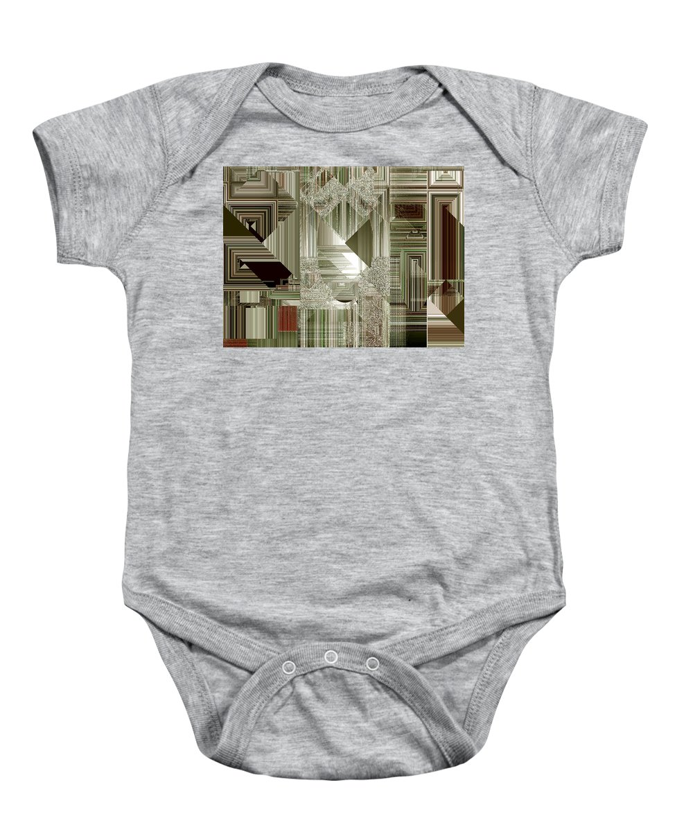 Abstract Baby Onesie featuring the painting Indecision I by RC DeWinter