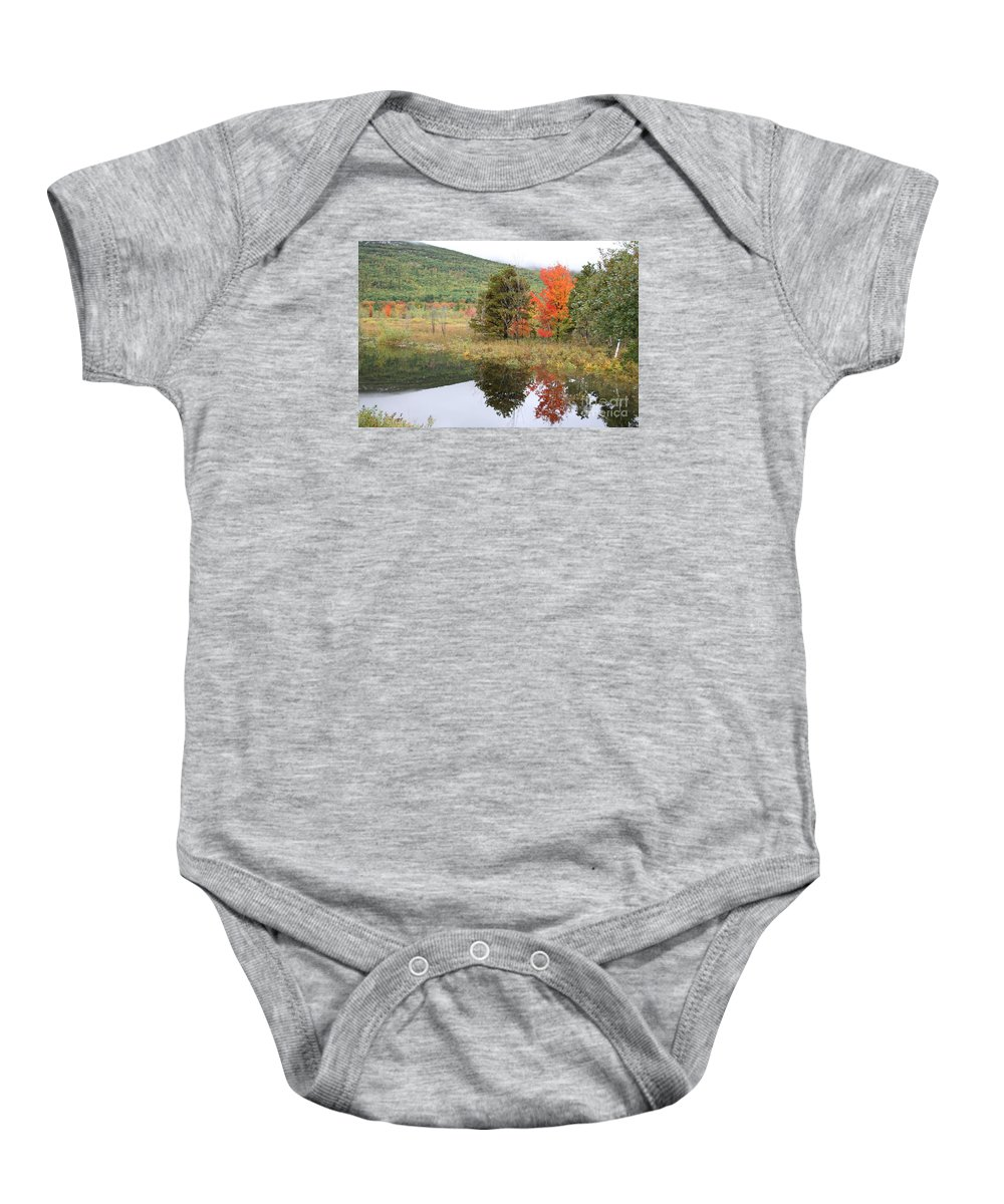 Autumn Baby Onesie featuring the photograph Indian Summer Acadia Park by Christiane Schulze Art And Photography