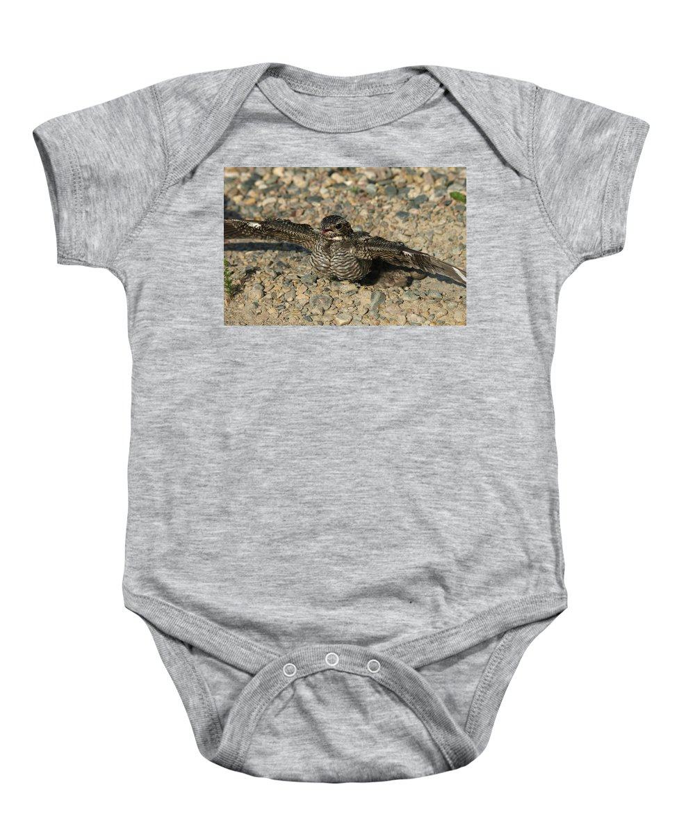 Peterson Nature Photography Baby Onesie featuring the photograph Industrial Nighthawk by James Peterson