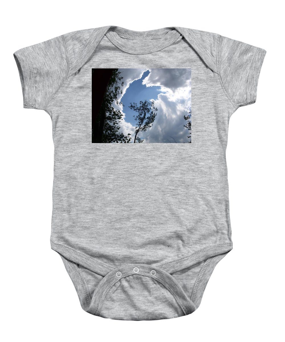 Tree Baby Onesie featuring the photograph Into The Sky by Aimee L Maher ALM GALLERY