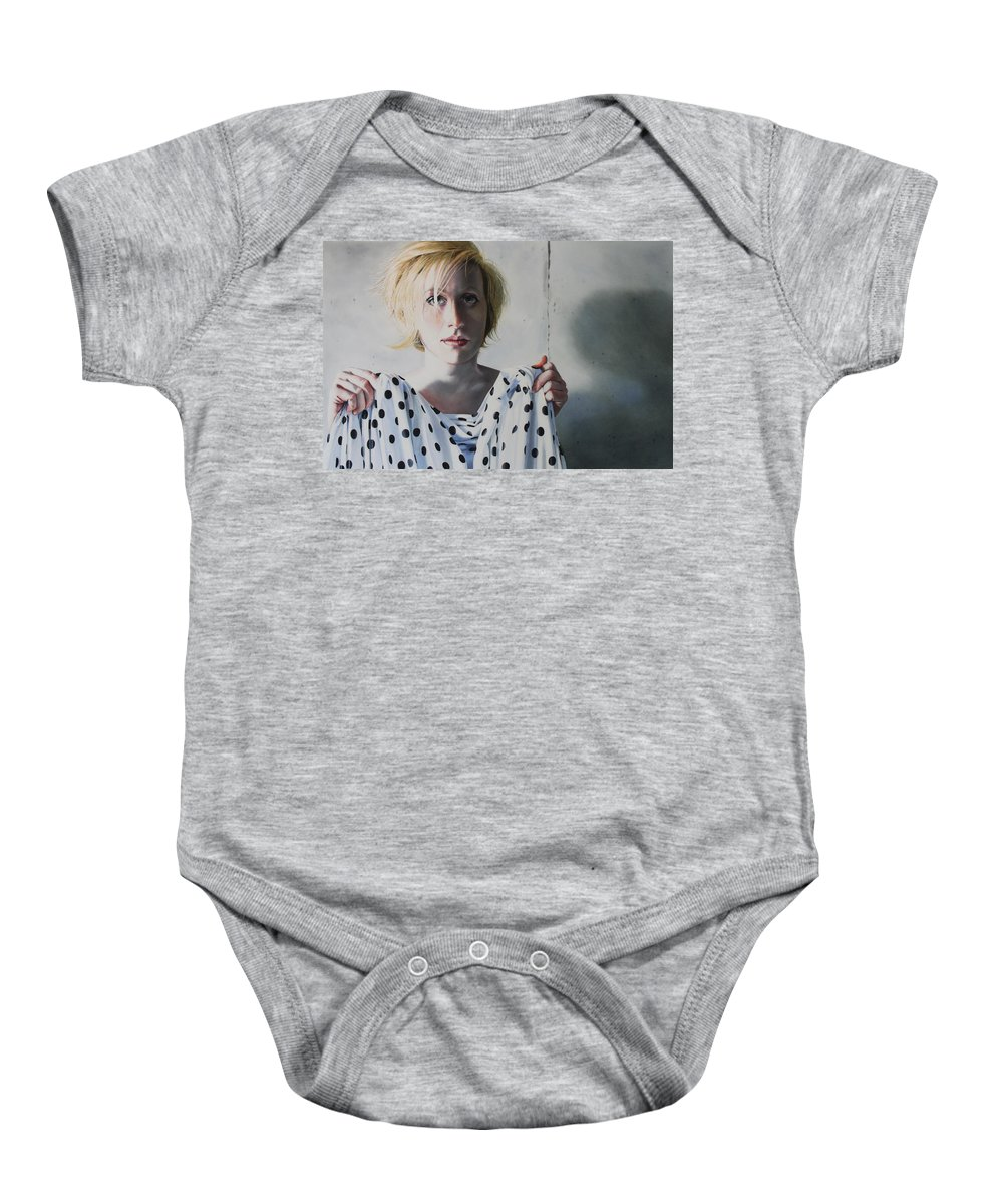 Female Baby Onesie featuring the painting Isolated by Denny Bond