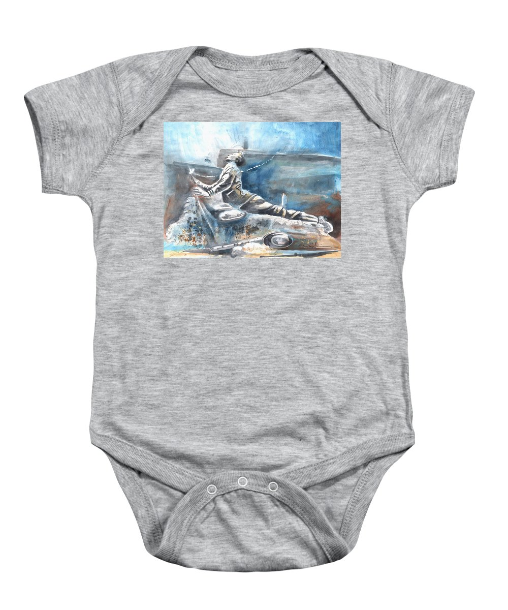 Italy Art Baby Onesie featuring the painting Italian Sculptures 04 by Miki De Goodaboom