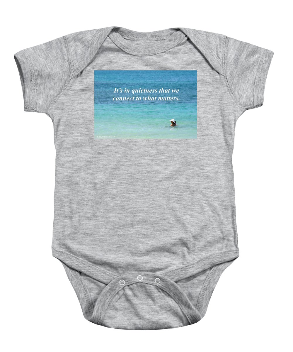 Ocean Baby Onesie featuring the photograph It's In Quietness by Pharaoh Martin