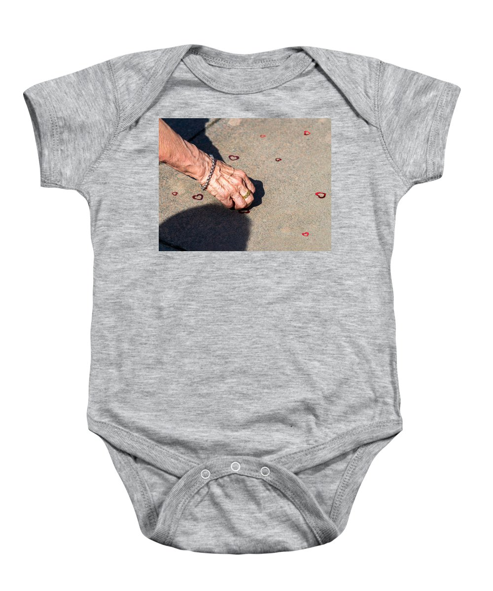 Abstract Baby Onesie featuring the photograph It's Never Late To Love - Featured 3 by Alexander Senin