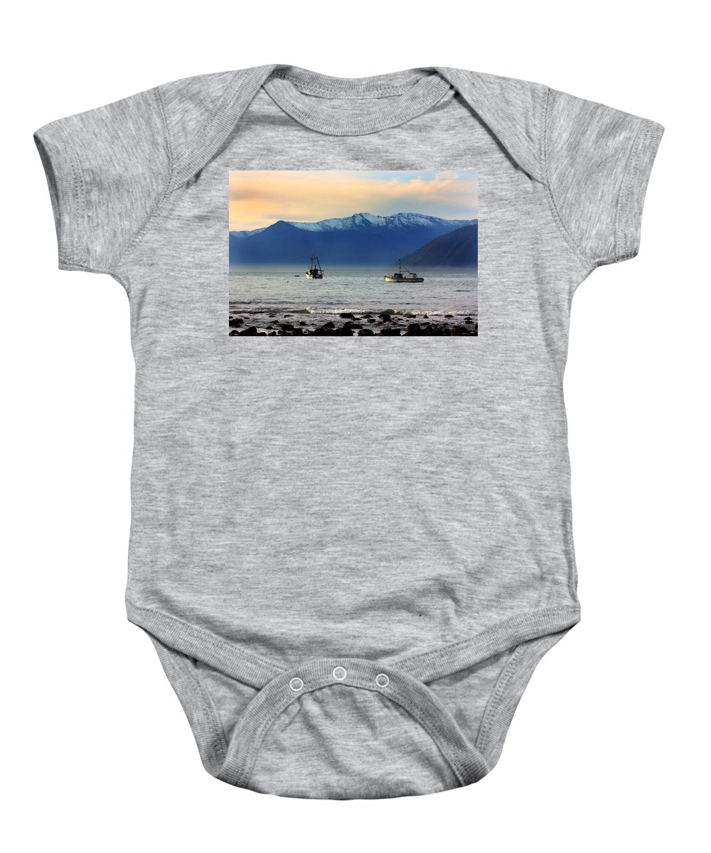 West Coast Baby Onesie featuring the photograph Jackson Bay South Westland New Zealand by Amanda Stadther