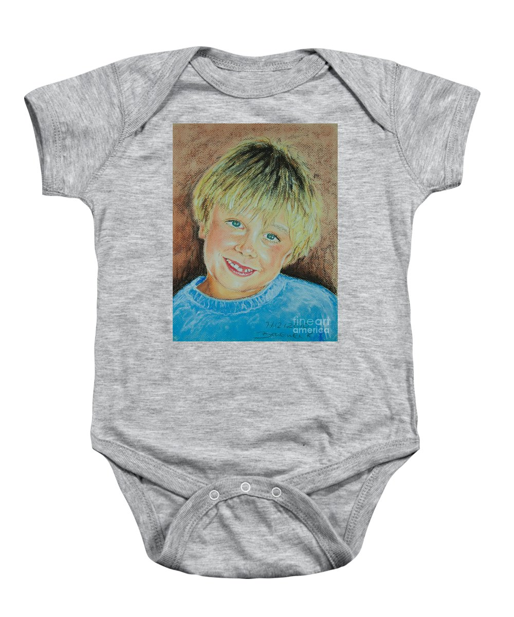 Boy Baby Onesie featuring the pastel Jake by Katharina Filus
