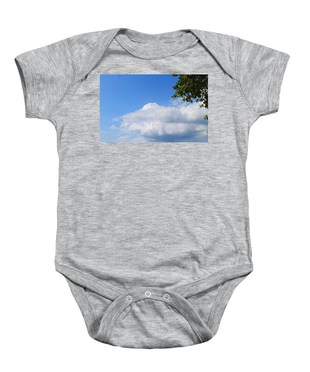 Jamaica Baby Onesie featuring the photograph Jamaica Clouds by Debbie Levene