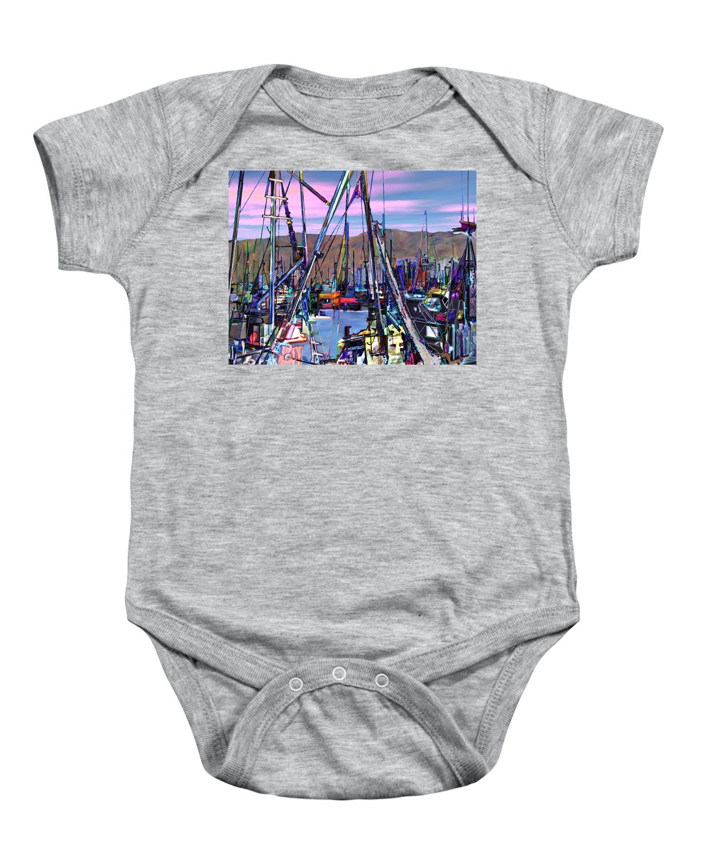 Harbors Baby Onesie featuring the photograph Jammin At Twilight by Kurt Van Wagner