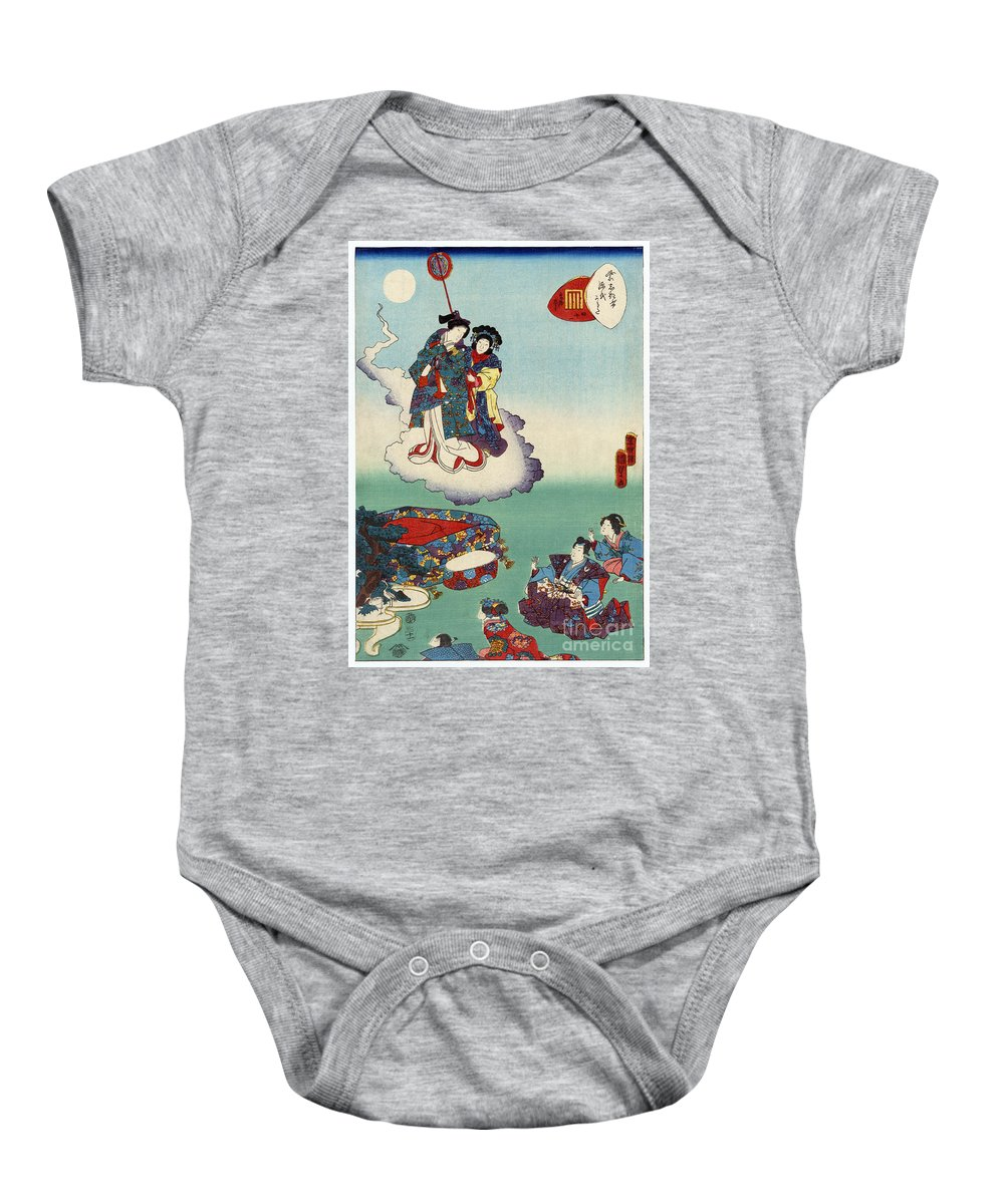 12th Century Baby Onesie featuring the photograph Japan: Tale Of Genji by Granger