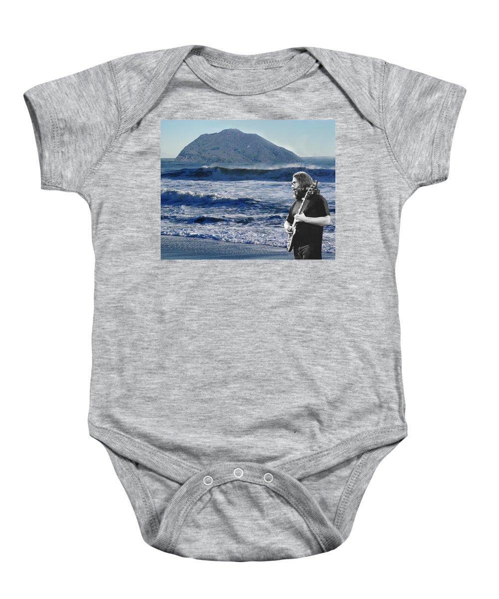 Grateful Dead Baby Onesie featuring the photograph Jerry Garcia At Mt Tamalpaisland 3 by Ben Upham