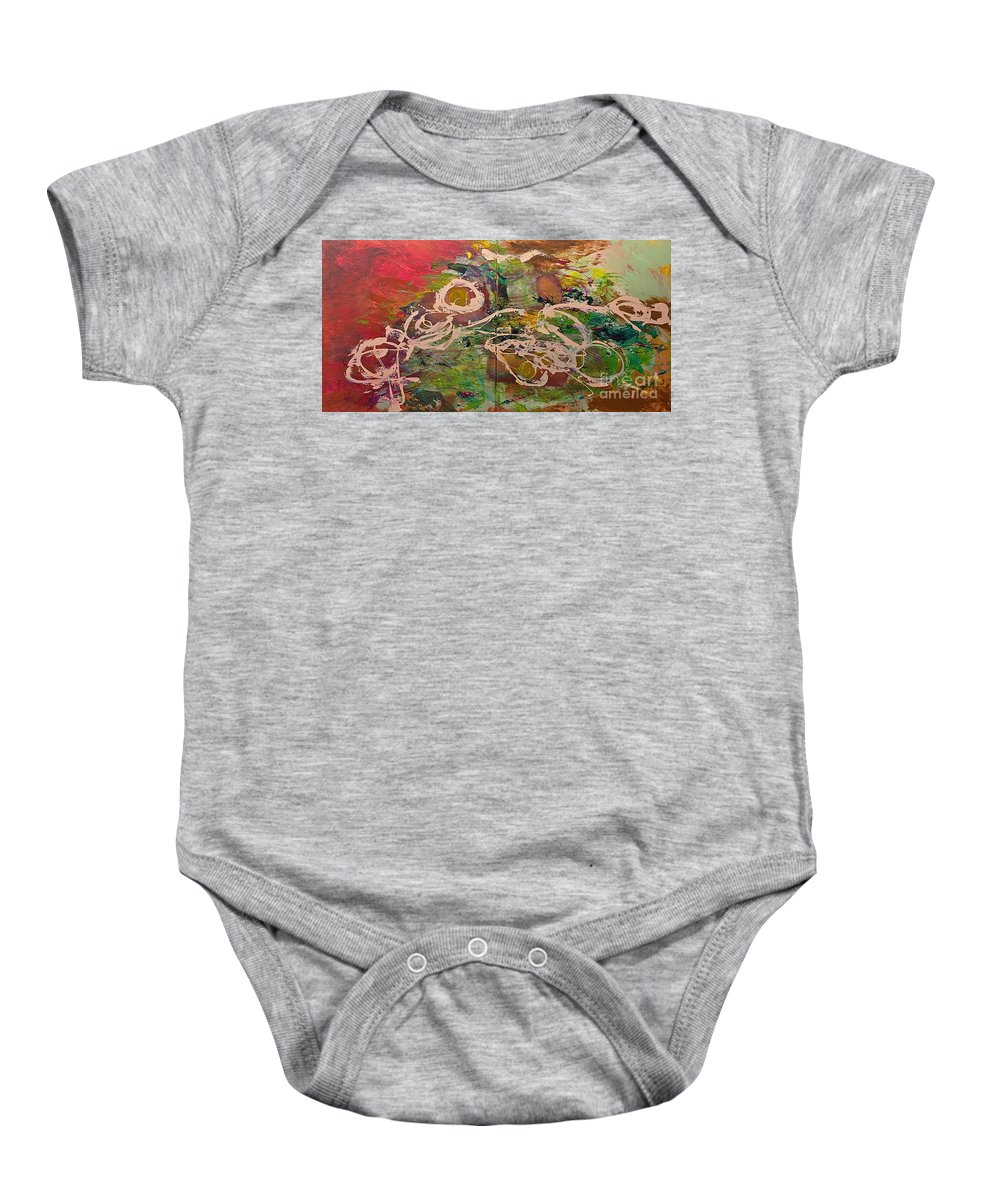Landscape Baby Onesie featuring the painting Journey Forth by Allan P Friedlander