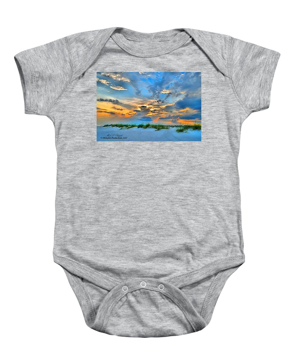 Suset Baby Onesie featuring the photograph June 2013 Nwfl Sunset I by Mark Olshefski