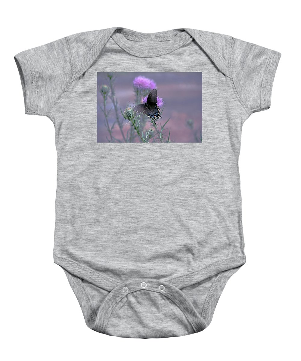 Butterfly Baby Onesie featuring the photograph Just Fluttering By by Francie Davis