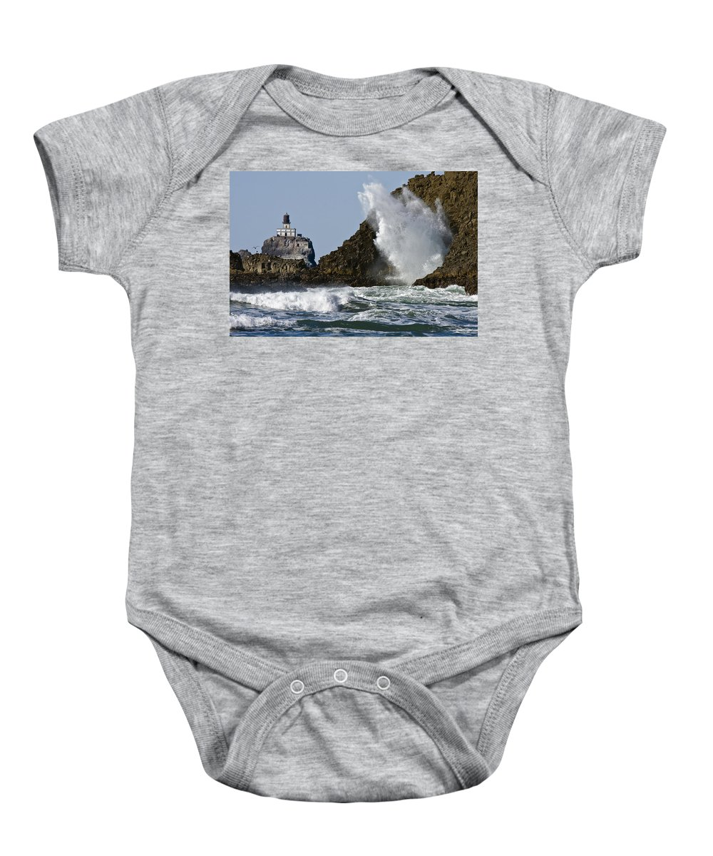 Kaboom Baby Onesie featuring the photograph Kaboom by Wes and Dotty Weber