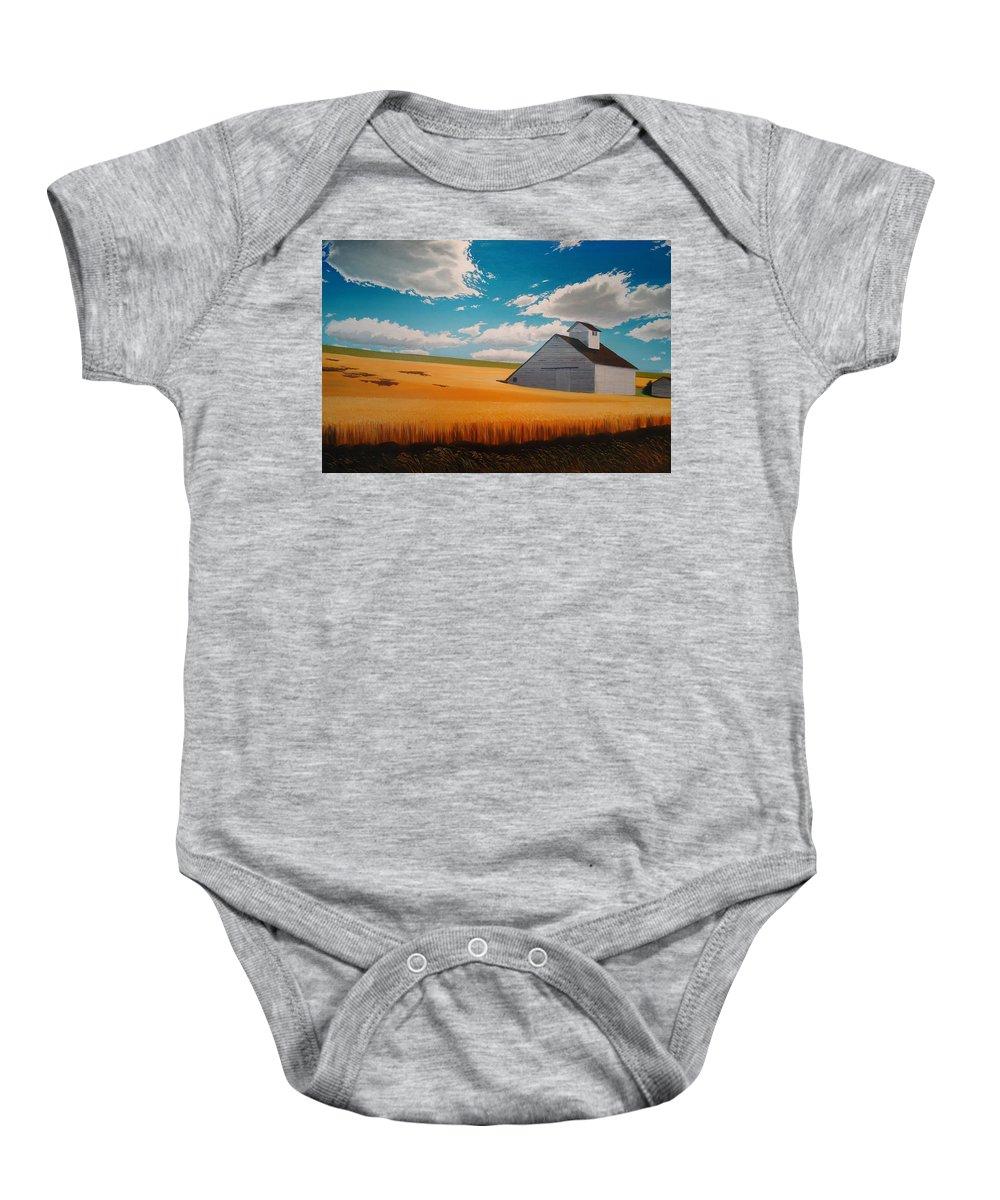 Landscape Baby Onesie featuring the painting Kamiak In Summer by Leonard Heid