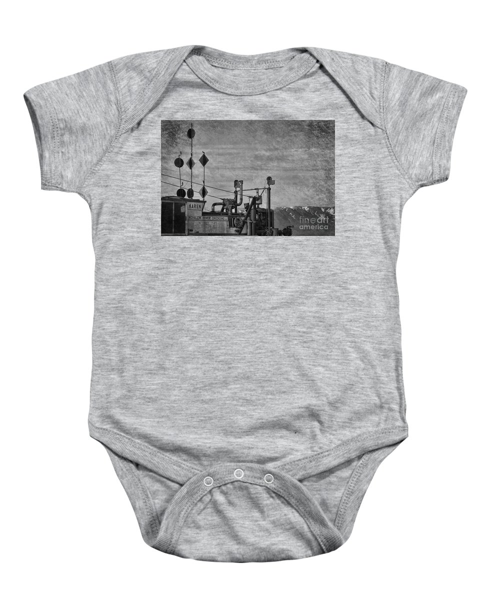 Boat Baby Onesie featuring the photograph Karen by David Arment