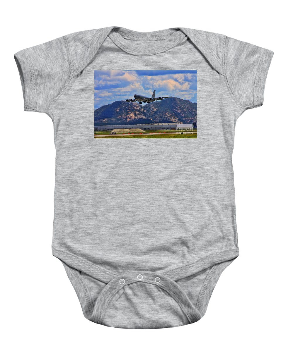 Boeing Kc-15 Baby Onesie featuring the photograph Kc-135 Take Off by Tommy Anderson