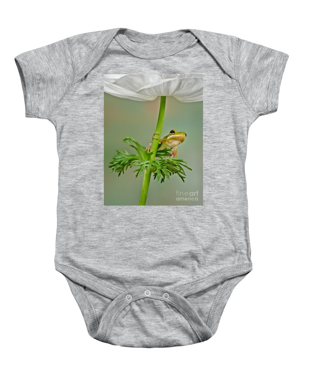 Flowers Baby Onesie featuring the photograph Kermits Canopy by Susan Candelario