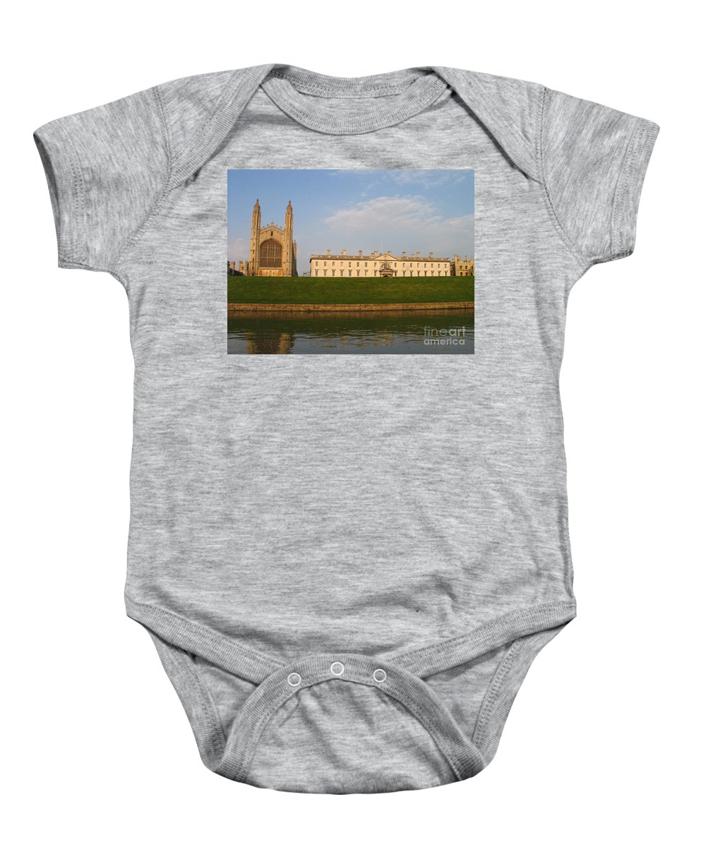 King's College Baby Onesie featuring the photograph Kings College Cambridge by Jason O Watson