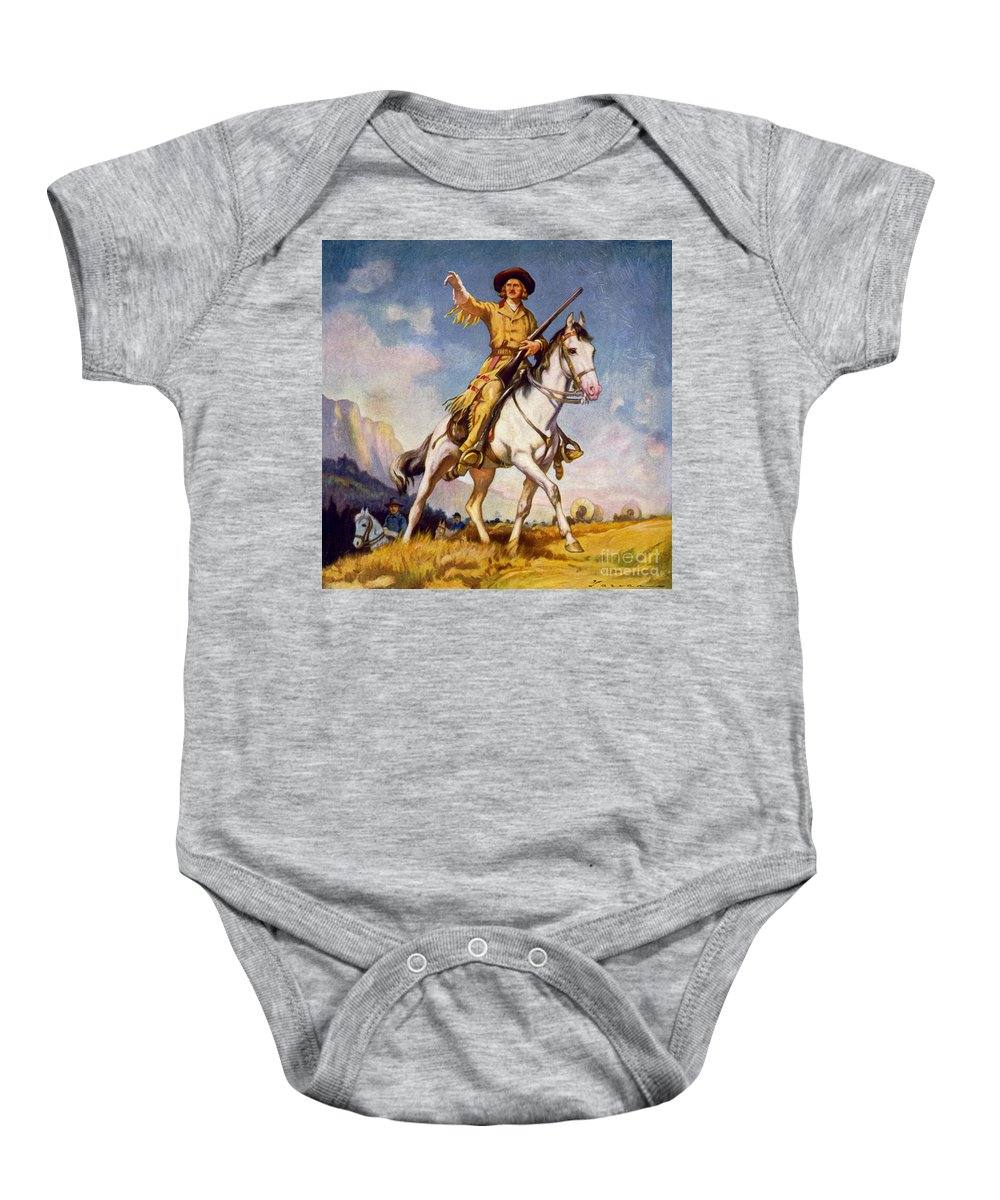 Christopher Houston Carson Baby Onesie featuring the photograph Kit Carson American Frontiersman by LOC Science Source