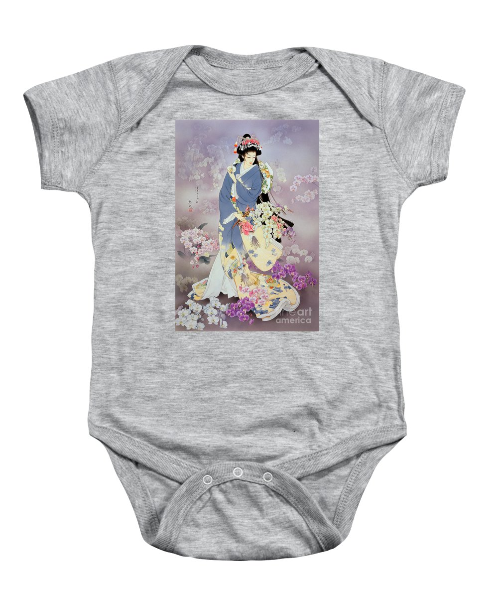 Adult Baby Onesie featuring the digital art Kochouran by MGL Meiklejohn Graphics Licensing
