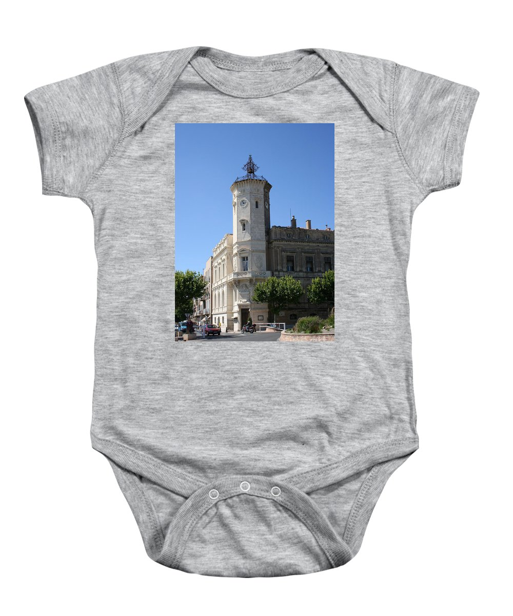 City Hall Baby Onesie featuring the photograph La Ciotat Provence- Alpes- Cote D'azur by Christiane Schulze Art And Photography