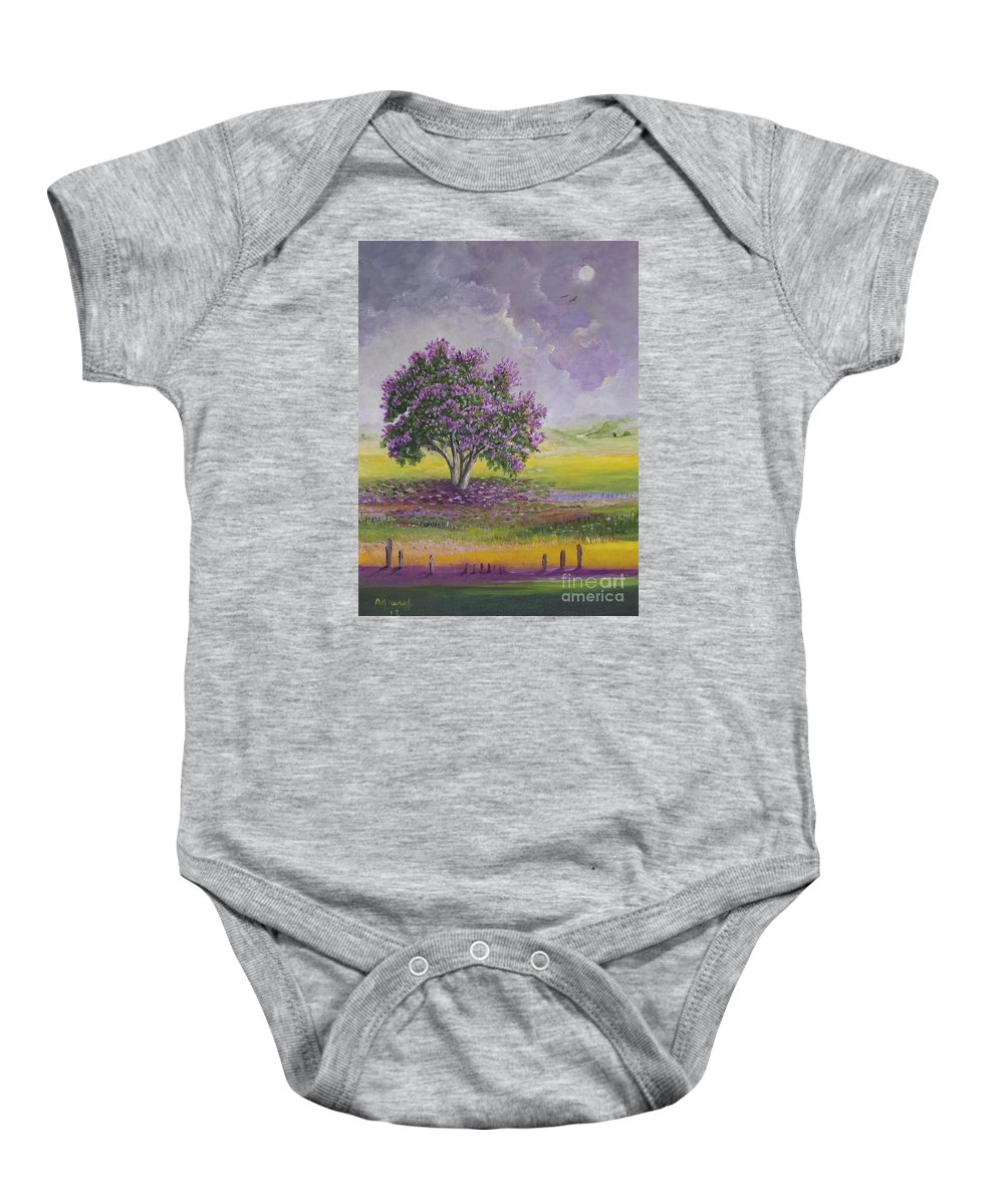 Trees Paintings Baby Onesie featuring the painting La Reina De Las Flores by Alicia Maury