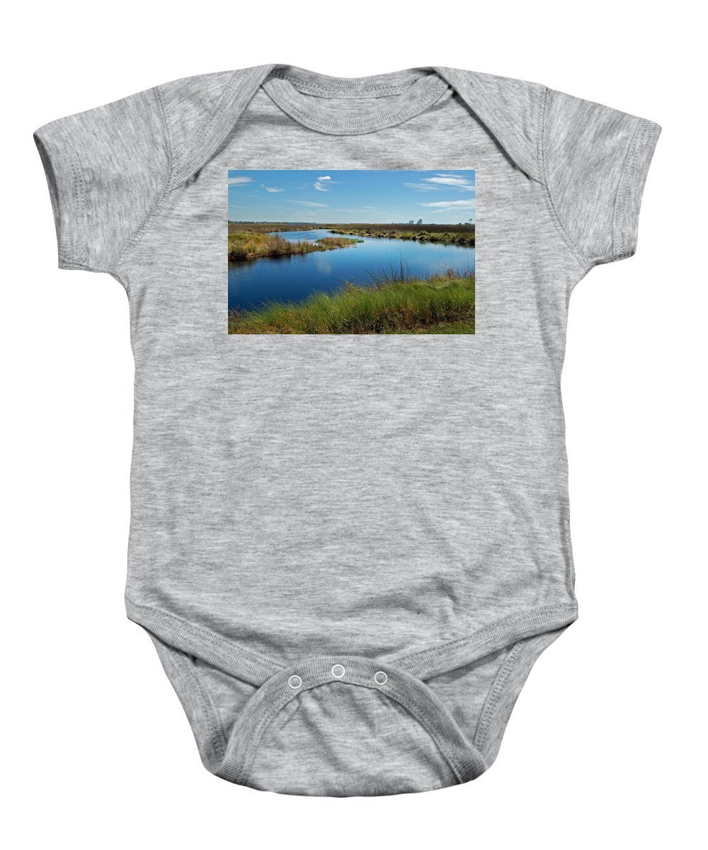 Alabama Photographer Baby Onesie featuring the digital art Lake Shelby Daytime by Michael Thomas