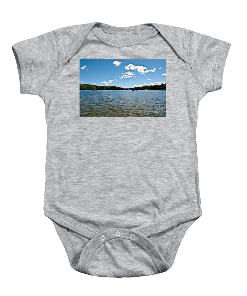 Water Baby Onesie featuring the photograph Lake View by Cheryl Baxter
