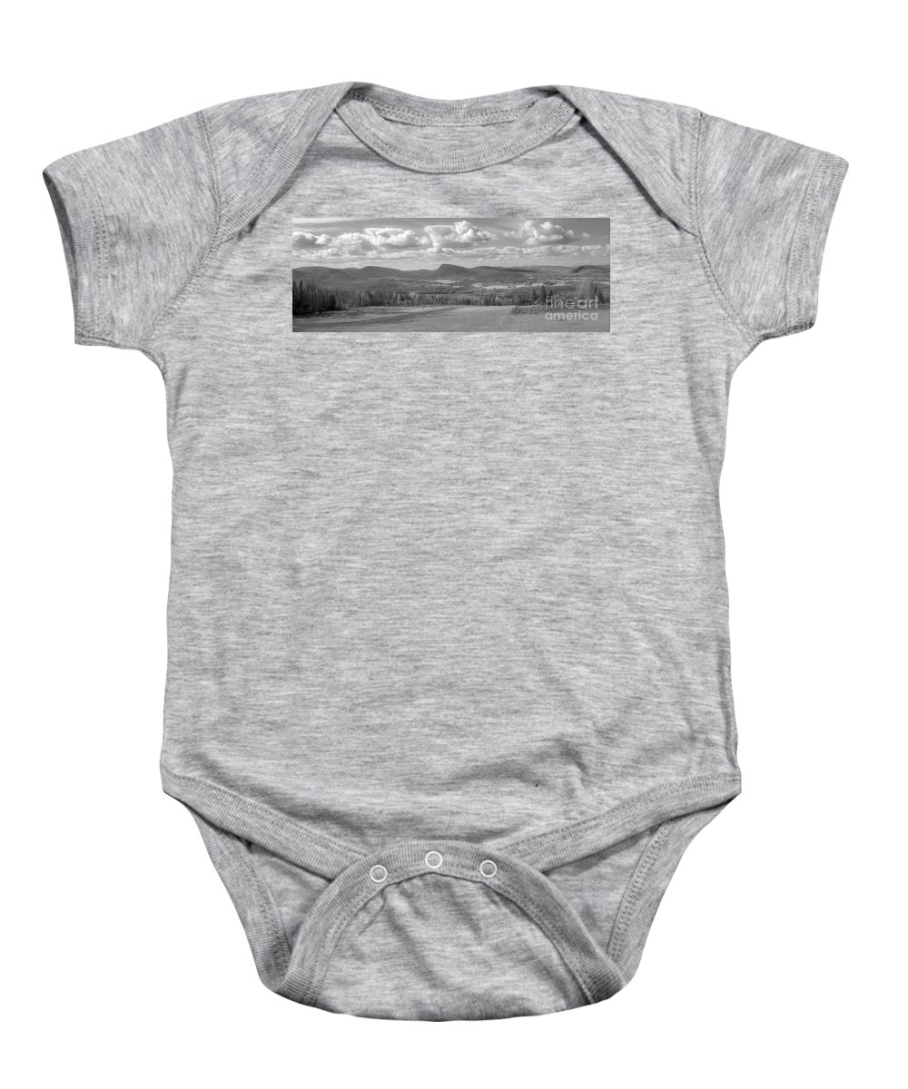 Lake Willoughby Baby Onesie featuring the photograph Lake Willoughby Vermont by Richard Rizzo