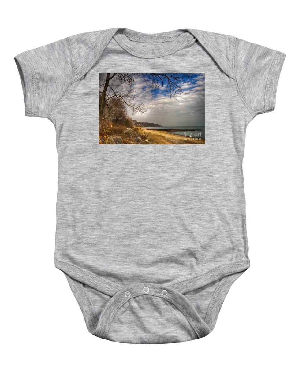 Water Baby Onesie featuring the photograph Lakeside by Margie Hurwich