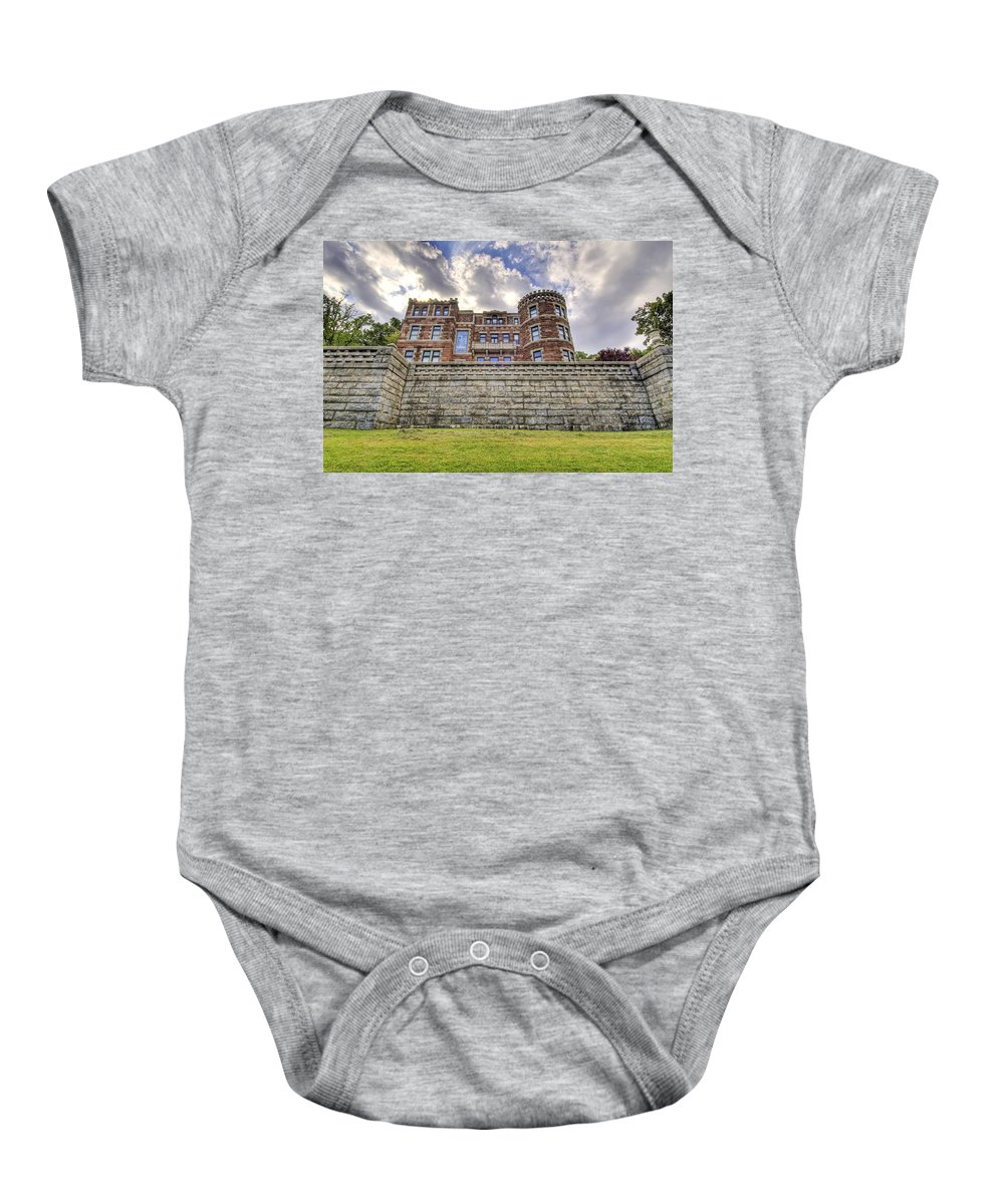 Castle Baby Onesie featuring the photograph Lambert Castle by Anthony Sacco