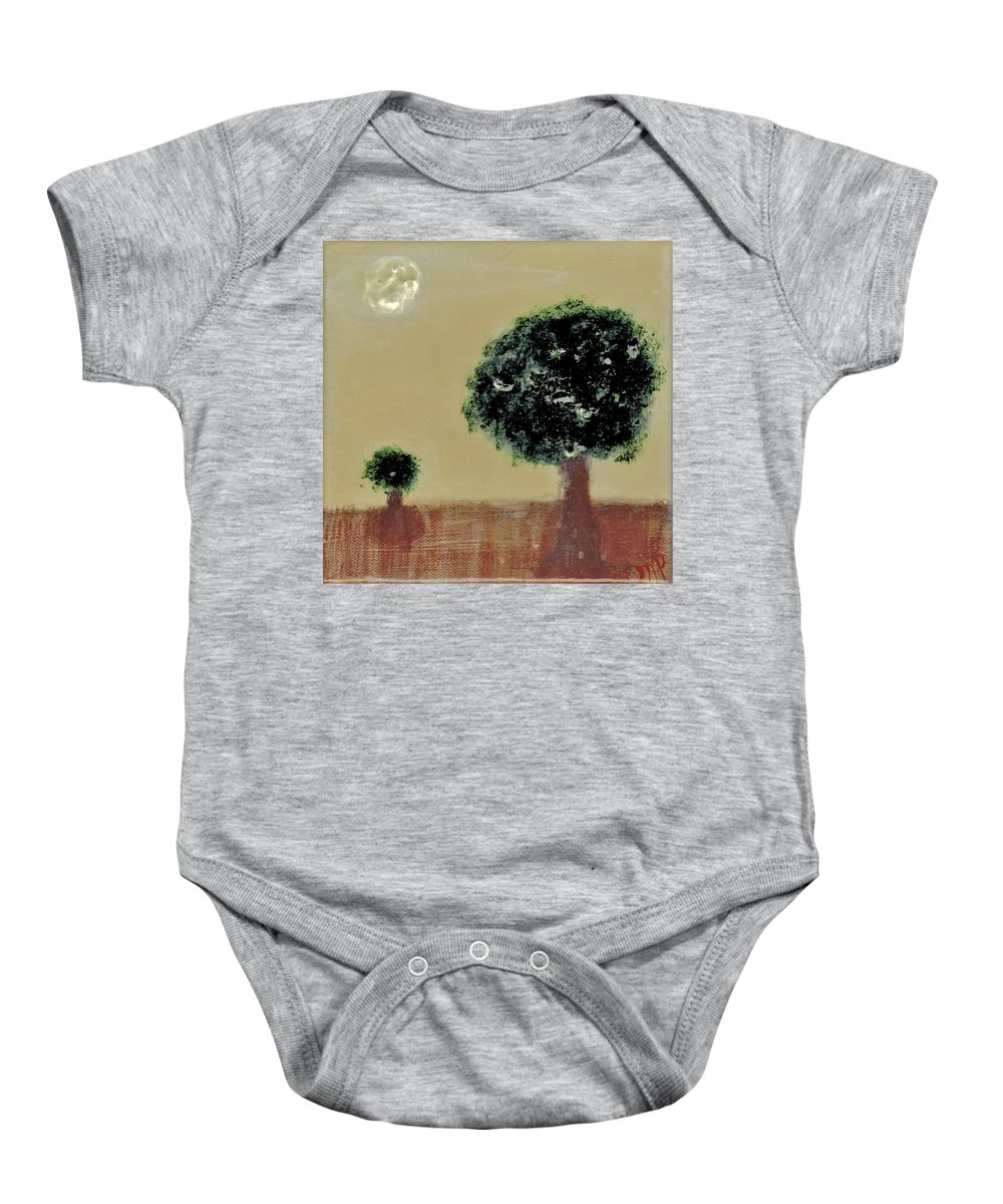 Trees Baby Onesie featuring the painting Landscape 14-006 by Mario MJ Perron