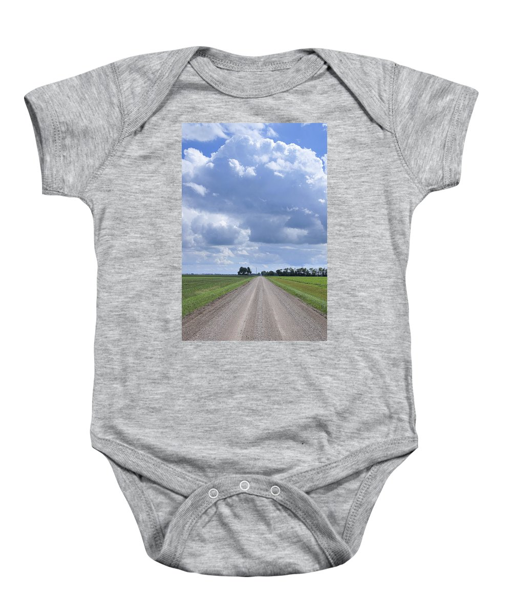 Landscape Baby Onesie featuring the photograph Landscape With Road by Donald Erickson
