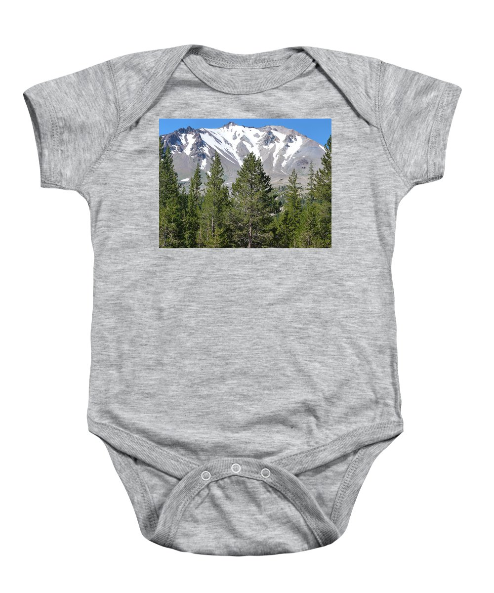 Mountain Baby Onesie featuring the photograph Lasson Peak 2 by Susan Porter