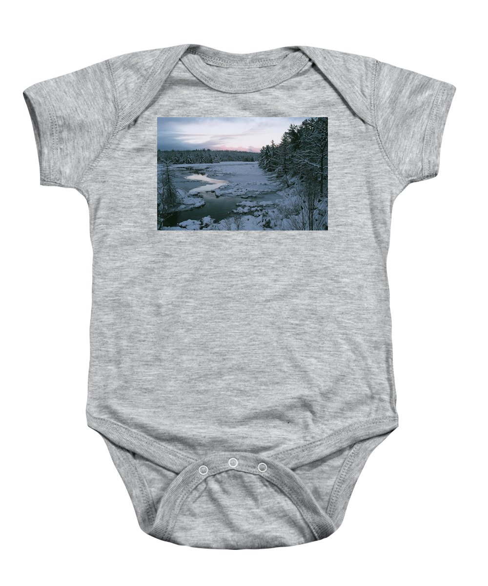 Landscape Baby Onesie featuring the photograph Late Afternoon In Winter by David Porteus