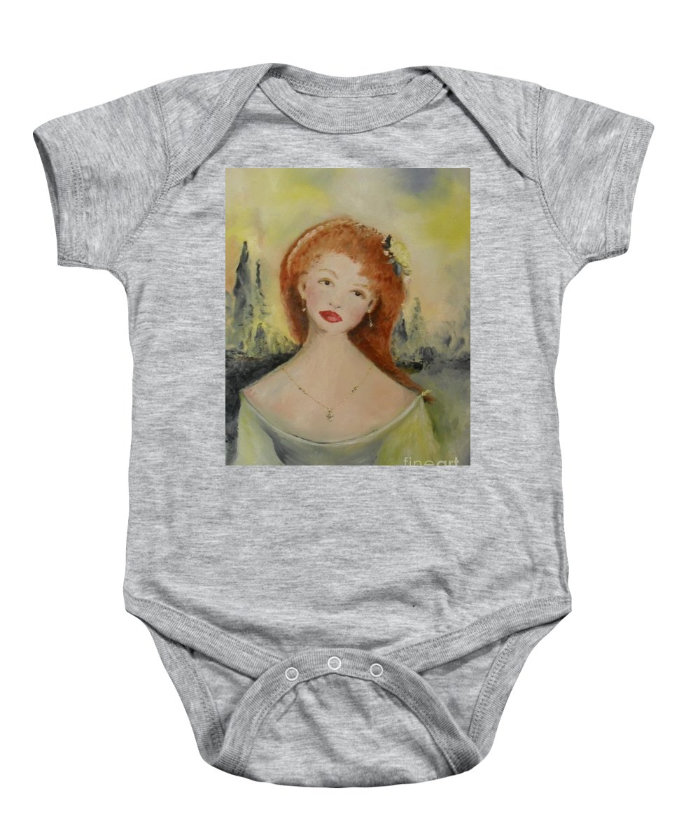 Woman Baby Onesie featuring the painting Laurel by Laurie Lundquist