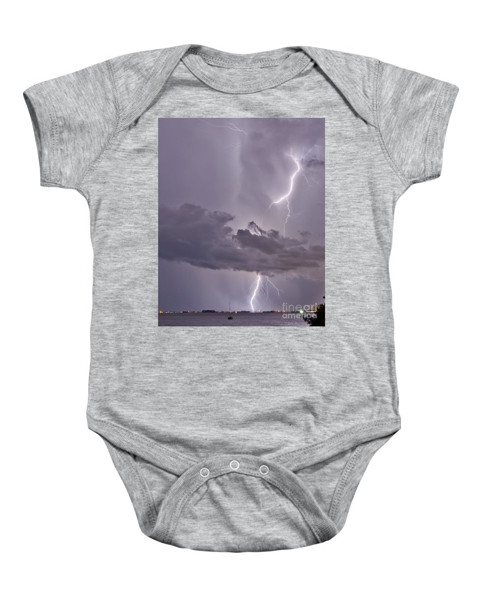 Florida Baby Onesie featuring the photograph Lavender Lace by Stephen Whalen